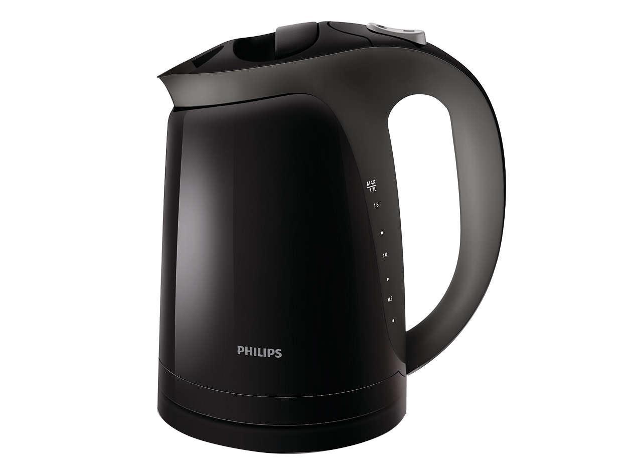Philips HD4699/20 электрочайникHD4699/20Чайник Philips HD4699/20 отличается элегантным дизайном, а двойной фильтр от накипи защищает его внутреннюю поверхность от образования известкового налета. Когда чайник включен, горит индикатор, а при закипании воды раздается звуковой сигнал и чайник выключается автоматически. Особенности: - шнур оборачивается вокруг основания, что позволяет легко разместить чайник на кухне; - четырехкомпонентная система безопасности для предотвращения короткого замыкания и выкипания воды с функцией автовыключения после закипания воды или снятия с основания.