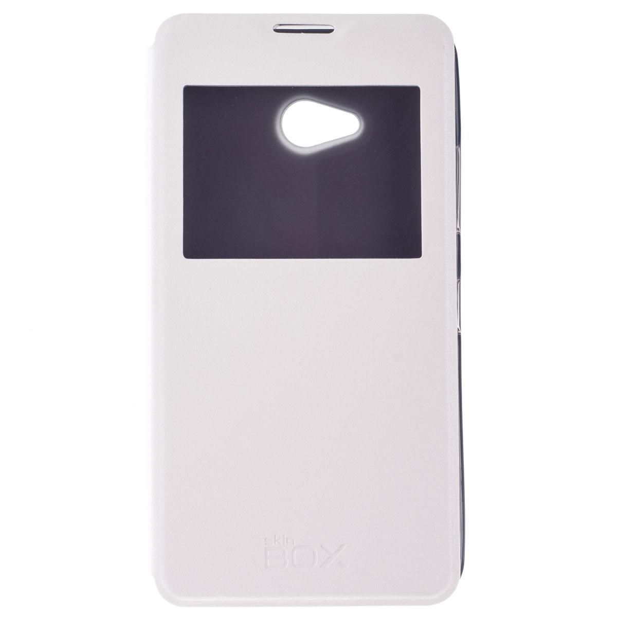 Skinbox Lux AW чехол для Microsoft Lumia 640, WhiteT-S-ML640-004Чехол Skinbox Lux AW выполнен из высококачественного поликарбоната и экокожи. Он обеспечивает надежную защиту корпуса и экрана смартфона и надолго сохраняет его привлекательный внешний вид. Чехол также обеспечивает свободный доступ ко всем разъемам и клавишам устройства.