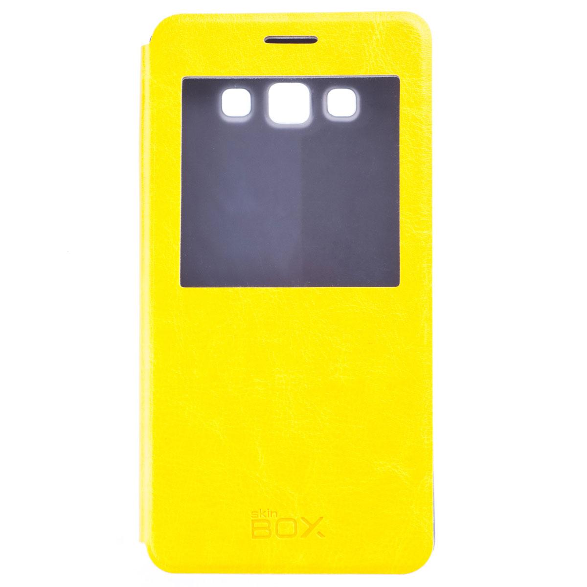 Skinbox Lux AW чехол для Samsung Galaxy A7, YellowT-S-SA700-004Чехол Skinbox Lux AW выполнен из высококачественного поликарбоната и экокожи. Он обеспечивает надежную защиту корпуса и экрана смартфона и надолго сохраняет его привлекательный внешний вид. Чехол также обеспечивает свободный доступ ко всем разъемам и клавишам устройства.