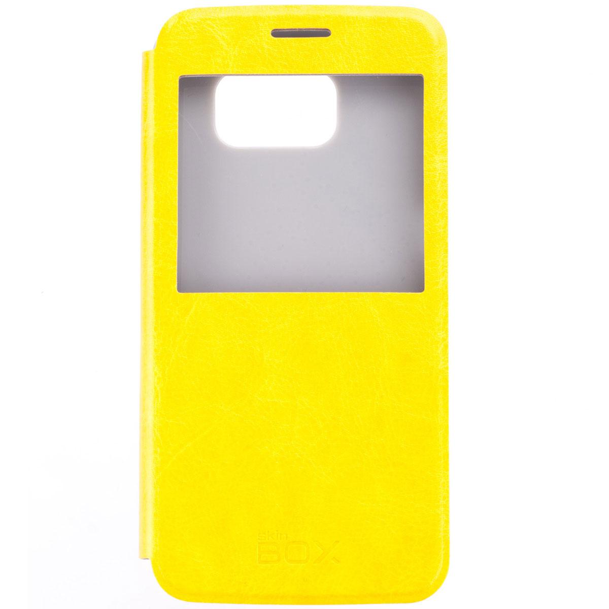 Skinbox Lux AW чехол для Samsung Galaxy S6, YellowT-S-SGS6-004Чехол Skinbox Lux AW выполнен из высококачественного поликарбоната и экокожи. Он обеспечивает надежную защиту корпуса и экрана смартфона и надолго сохраняет его привлекательный внешний вид. Чехол также обеспечивает свободный доступ ко всем разъемам и клавишам устройства.