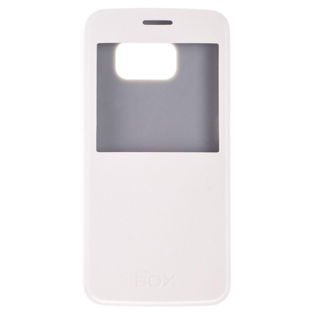 Skinbox Lux AW чехол для Samsung Galaxy S6, WhiteT-S-SGS6-004Чехол Skinbox Lux AW выполнен из высококачественного поликарбоната и экокожи. Он обеспечивает надежную защиту корпуса и экрана смартфона и надолго сохраняет его привлекательный внешний вид. Чехол также обеспечивает свободный доступ ко всем разъемам и клавишам устройства.