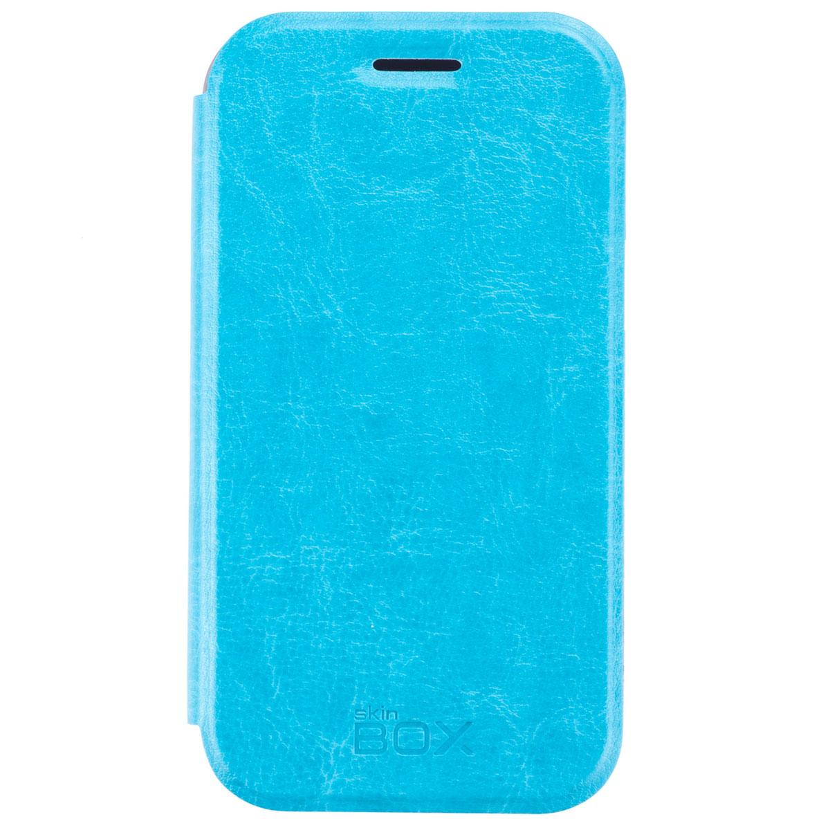 Skinbox Lux чехол для Samsung Galaxy J1 DS, BlueT-S-SJ1-003Чехол Skinbox Lux выполнен из высококачественного поликарбоната и экокожи. Он обеспечивает надежную защиту корпуса и экрана смартфона и надолго сохраняет его привлекательный внешний вид. Чехол также обеспечивает свободный доступ ко всем разъемам и клавишам устройства.
