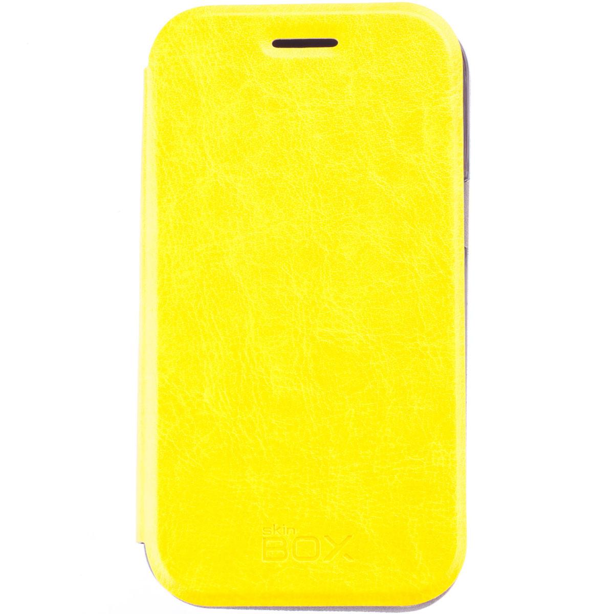 Skinbox Lux чехол для Samsung Galaxy J1 DS, YellowT-S-SJ1-003Чехол Skinbox Lux выполнен из высококачественного поликарбоната и экокожи. Он обеспечивает надежную защиту корпуса и экрана смартфона и надолго сохраняет его привлекательный внешний вид. Чехол также обеспечивает свободный доступ ко всем разъемам и клавишам устройства.