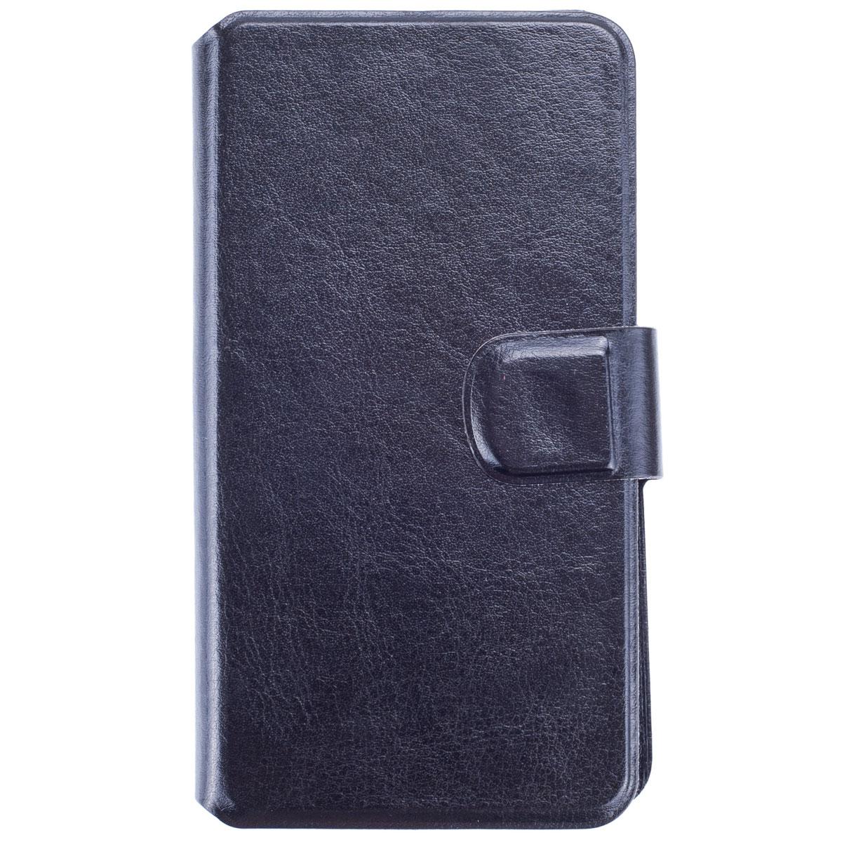 Skinbox Slide Sticker чехол для смартфонов 5.5, BlackT-S-U5.5Чехол Skinbox Slide Sticker выполнен из высококачественного поликарбоната и экокожи. Он обеспечивает надежную защиту корпуса и экрана смартфона и надолго сохраняет его привлекательный внешний вид. Чехол также обеспечивает свободный доступ ко всем разъемам и клавишам устройства.
