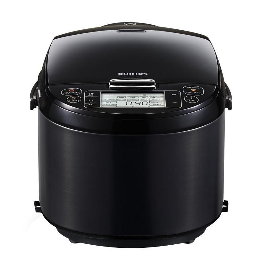 Philips HD3197/03, Black мультиваркаHD3197/03Технология VitaPlus с двумя нагревательными элементами для быстрого и равномерного нагрева Новая технология нагрева VitaPlus: двойной нагревательный элемент для быстрого нагрева и равномерного распределения тепла Толстостенная чаша с покрытием ProKeram для удержания тепла Толстостенная внутренняя чаша 6 мм с нанокерамическим покрытием ProKeram обеспечивает удержание тепла и повышенную прочность Легкопрограммируемый таймер отсрочки старта до 24 часов Легкопрограммируемый таймер отсрочки старта до 24 часов позволит приготовить блюда к нужному времени Съемная верхняя крышка для удобства приготовления пищи и очистки Верхняя крышка полностью снимается, что обеспечивает удобство при приготовлении пищи. Ее также можно мыть в посудомоечной машине Внутреннюю чашу можно мыть в посудомоечной машине В комплект входит книга рецептов с оригинальными идеями В...