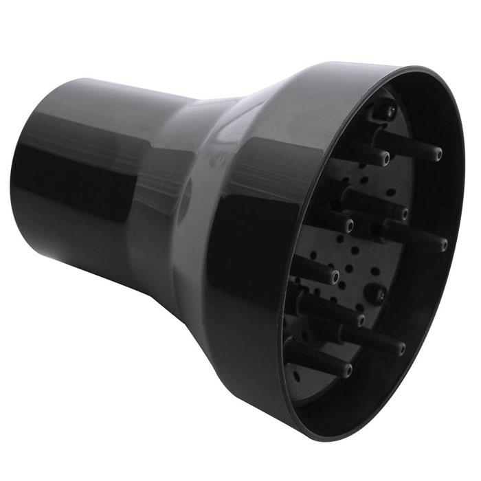 Dewal Doccia диффузор для фенов03-DOCCIAПальчиковый диффузор DOCCIA от DEWAL используется для укладки волос при помощи фена. Он изготовлен из термостойкого пластика, так что позволяет производить сушку очень горячим воздухом, который направляется только туда, куда нужно. Термостойкие «пальцы» фена рассеивают горячий воздух на несколько направленных струй. При помощи диффузора можно формировать локоны и просто придавать волосам объем либо сушить их достаточно быстро и довольно горячим воздухом, рассеянным «пальцами» диффузора. Подходит для фенов Dewal Parlux 3500