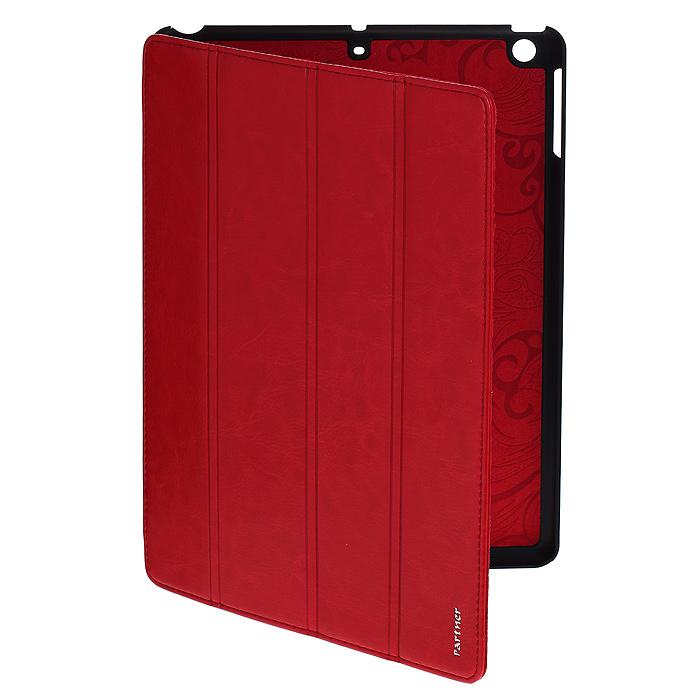 Чехол-обложка SmartCover для планшета iPad 5, цвет: красныйПР029276Чехол-обложка SmartCover предназначен специально для планшета iPad 5. Чехол выполнен из пластика и искусственной кожи синего цвета, внутри имеет мягкую подложку из бархатистого материала. Чехол-обложка SmartCover идеально подходит к вашему планшету, предусмотрены все необходимые вырезы и отверстия под клавиши управления и разъемы. Чехол защитит планшет от механических повреждений, а также от попадания пыли и грязи. Практичен в использовании и имеет стильный внешний вид. Корпус устройства надежно закреплен, что исключает его выпадение. Чехол легко трансформируется в удобное положение.