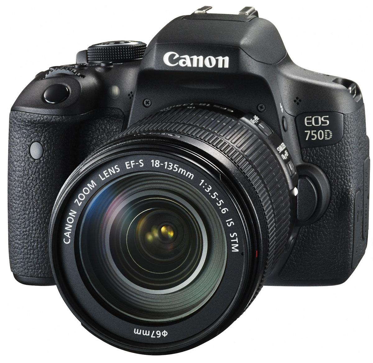 Canon EOS 750D Kit 18-135 IS STM, Black цифровая зеркальная фотокамера0592C009Достигайте новых уровней мастерства в фотосъемке с зеркальной фотокамерой Canon EOS 750D. Простая съемка мельчайших деталей в любой ситуации Снимайте яркие и детализированные изображения в высоком разрешении с расширенным динамическим диапазоном, пониженным уровнем шума и превосходным контролем глубины резкости благодаря 24,2- мегапиксельному датчику APS-C. Удобный видоискатель EOS 750D оснащена интеллектуальным видоискателем, который обеспечивает улучшенные возможности съемки. Глядя в видоискатель, легче видеть точку фокусировки и любые активные области автофокусировки. Кроме того, четко отображается информация о съемке. Различные режимы съемки С легкостью снимайте великолепные фотографии благодаря последним технологиям цифровых зеркальных камер с базовыми и творческими режимами, которые позволят вам самостоятельно выбирать уровень контроля над параметрами съемки. Поворотный экран для творческого выстраивания...