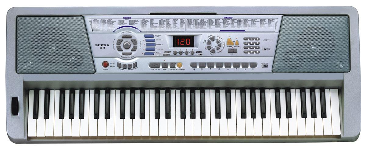 Supra SKB-614 цифровой синтезаторSKB-614Синтезатор Supra SKB-613 отлично подойдет как для тех, кто только начал заниматься музыкой, так и для состоявшихся музыкантов. Устройство оборудовано функцией интеллектуального обучения, которое состоит из 3 ступеней, что позволяет новичкам шаг за шагом обучиться игре на синтезаторе. Большое число ритмов и тембров позволят разнообразить исполняемые мелодии. Яркий светодиодный дисплей Supra SKB-613 поможет контролировать его работу. 46 тембров и 16 уровней громкости позволят настроить звук по вашему вкусу. Также предусмотрена возможность записи и прослушивания мелодий. Синтезатор отличается легкостью и компактными размерами. Запитать устройство можно как от стационарной электросети, так и от пальчиковых батареек, благодаря чему вы сможете наслаждаться игрой даже на природе! Количество ритмов: 100 Количество ударных инструментов: 8 Демонстративные песни: 33 Запись аккомпанемента до 90 нот Запись мелодии до 400 нот Управление ритмом:...
