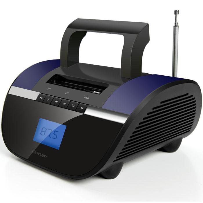 Rolsen RBM413BT, Violet аудиомагнитола1-RLAM-RBM413BT-VIRolsen RBM-413BT – портативная стереомагнитола с функцией Bluetooth. Данная технология обеспечивает беспроводную передачу звука с различных носителей. Несмотря на компактный размер, магнитола приятно удивит вас качественным стереозвучанием. Мощность динамиков 6 Ватт и соответствует всем требованиям современной стереоаппаратуры. Устройство оснащено входами для USB-носителей, Micro-SD и SD-карт, разъемом для наушников, а также линейным входом, позволяющим использовать ее в качестве стерео-колонок для ноутбуков и других внешних устройств. Наличие функции часов и будильника, а также встроенное FM-радио с функцией памяти для радиостанций еще больше расширяют функционал данного портативного устройства. Съемный аккумулятор избавит от необходимости менять разрядившиеся батарейки, а подзарядить устройство можно с помощью стандартного USB-разъема, который имеется у любого компьютера или ноутбука. Длительное время работы в автономном режиме позволит брать магнитолу с...