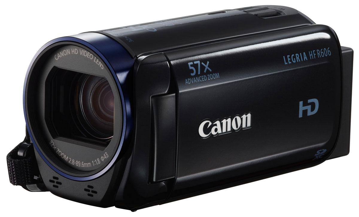Canon LEGRIA HF R606, Black цифровая видеокамера0280C003Canon LEGRIA HF R606 - компактная видеокамера, которая позволит запечатлеть каждый момент в формате Full HD. Отслеживайте и снимайте с высокой детализацией даже удаленные объекты благодаря усовершенствованному 57-кратному зуму. Передавайте файлы на смартфоны или планшеты в беспроводном режиме с помощью карт FlashAir. Снимайте превосходные видеоролики с помощью видеообъектива Canon HD. Устройство оснащено универсальным усовершенствованным 57-кратным зумом, который позволяет снимать с высокой детализацией даже удаленные объекты. Превосходное качество изображения даже при съемке в условиях слабого освещения благодаря разрешению 3,28 Мпикс, датчику Full HD CMOS и процессору DIGIC DV4. Запечатлейте памятные моменты и защитите их от случайного удаления с помощью удобной функции File Lock. Экспериментируйте, используя режим замедленной и ускоренной съемки. В режиме замедленной съемки скорость снижается в 1/2 раза, что идеально подходит для съемки игры в...