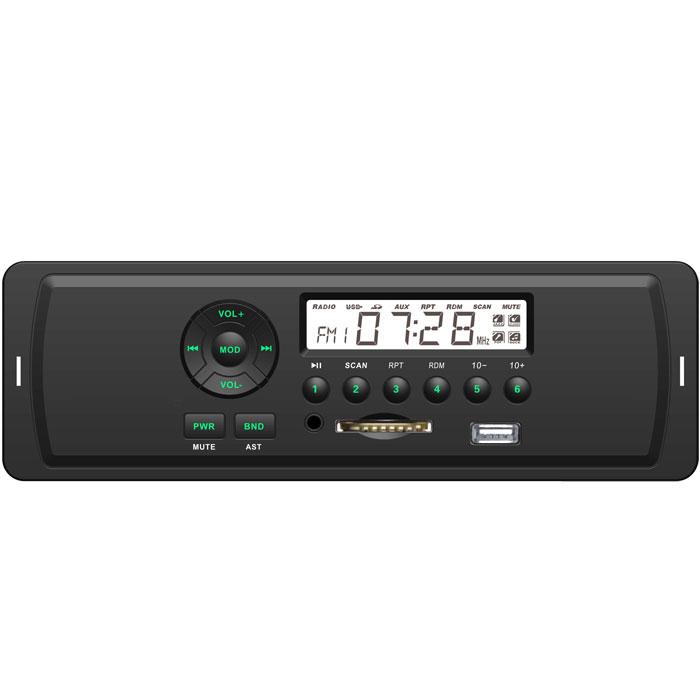Rolsen RCR-103, Green автомагнитола1-RLCA-RCR-103GВ современном автомобиле есть звуковая система, основу которой составляет магнитола. Обладая компактными размерами, магнитола должна быть функциональной, принимать диапазон радиоволн, считывать информацию с различных носителей, а также иметь высококачественный звук. Все перечисленные выше возможности есть у новых автомагнитол Rolsen RCR-103. Автомагнитолы Rolsen RCR-103 способны воспроизводить музыкальный контент с SD/MMC и USB носителей. Современный строгий дизайн отлично интегрируется в панель любого автомобиля, а выходная мощность 4х45 Вт обеспечивает великолепное звучание.