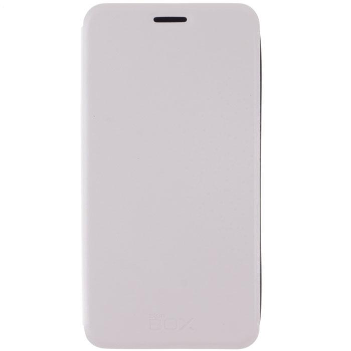 Skinbox Lux чехол для Meizu M1 Note, WhiteT-S-MM1N-003Чехол Skinbox Lux для Meizu M1 Note выполнен из высококачественного поликарбоната и экокожи. Он обеспечивает надежную защиту корпуса и экрана смартфона и надолго сохраняет его привлекательный внешний вид. Чехол также обеспечивает свободный доступ ко всем разъемам и клавишам устройства.