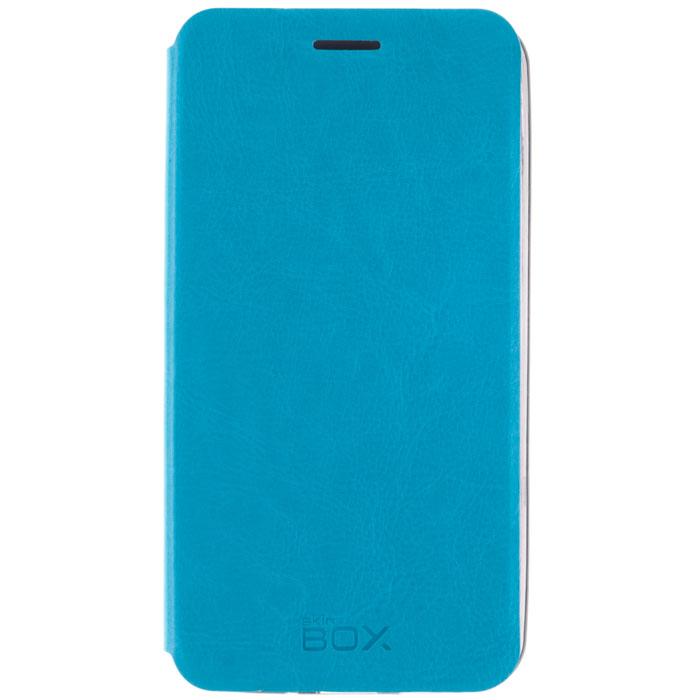 Skinbox Lux чехол для Meizu MX4 Pro, BlueT-S-MMX4P-003Чехол Skinbox Lux для Meizu MX4 Pro Note выполнен из высококачественного поликарбоната и экокожи. Он обеспечивает надежную защиту корпуса и экрана смартфона и надолго сохраняет его привлекательный внешний вид. Чехол также обеспечивает свободный доступ ко всем разъемам и клавишам устройства.
