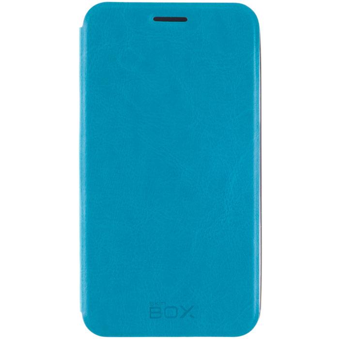 Skinbox Lux чехол для Meizu MX4, BlueT-S-MMX4-003Чехол Skinbox Lux для Meizu MX4 выполнен из высококачественного поликарбоната и экокожи. Он обеспечивает надежную защиту корпуса и экрана смартфона и надолго сохраняет его привлекательный внешний вид. Чехол также обеспечивает свободный доступ ко всем разъемам и клавишам устройства.