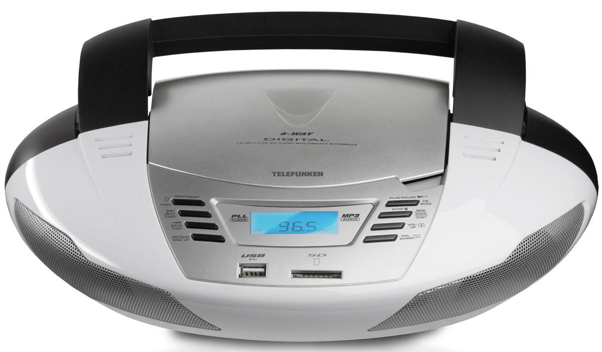 Telefunken TF-CSRP3480, White аудиомагнитола