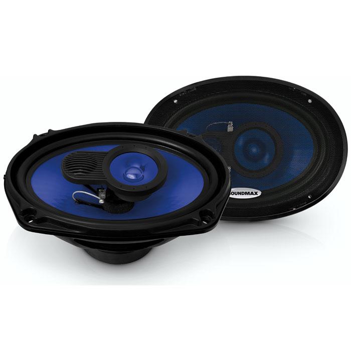 Soundmax SM-CSE693 колонки автомобильныеSM-CSE693Soundmax SM-CSE693 - 3-полосная коаксиальная акустическая система. Диффузор модели изготовлен из полипропилена инжекционного литья. Технология DeepMax специально разработана для более глубокого воспроизведения низких частот.