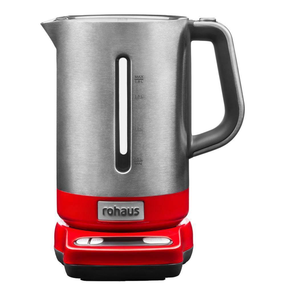 Rohaus RK910R, Red электрочайникRK910RЧайник Rohaus RK910R с регулировкой температуры выполнен из долговечных металлических деталей, а его технические характеристики позволяют варьировать температуру нагрева воды для приготовления множества различных напитков.