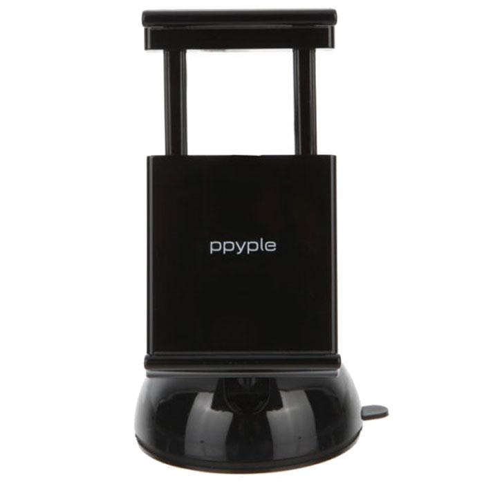Ppyple Dash-N5 matt black автомобильный держатель936365Автомобильный держатель Ppyple Dash-N5 – лучшее решение для фиксирования в вашем авто любого вида коммуникаторов с диагональю экрана от 3.5 до 5.5 дюймов и толщиной 6-12 мм. Ppyple Dash-N5 можно установить в машине как на лобовом стекле, так и на приборной панели. Фиксация прибора происходит без затрачивания каких-либо усилий с помощью, имеющейся в комплектации присоски и геля. Он держится на месте крепления очень прочно, настолько, что может удерживать фиксируемый в нем коммуникатор во время экстремальной езды по бездорожью. При удалении устройства на крепежной поверхности не остается следов присутствия геля. Фиксируемую часть можно вращать вокруг своей оси на 360°. Это полезное свойство приспособления очень помогает настроить визуализатор под личный угол зрения. Зажим устройства плотно прилегает к поверхности, которую необходимо удерживать и автоматически складывается, если вы убираете коммуникатор из паза. Прибор рассчитан на долговременную...