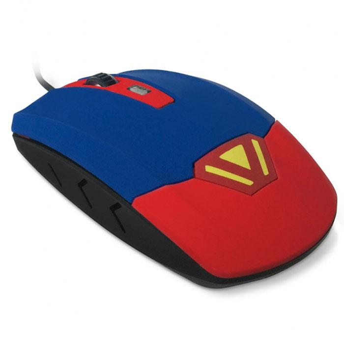 CBR CM 833 Superman, Red Blue мышь