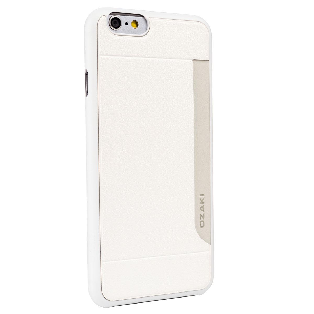 Ozaki O!coat 0.3+ Pocket Case чехол для iPhone 6, WhiteOC559WHЧехол Ozaki O!coat 0.3+ Pocket Case для iPhone 6 предназначен для защиты корпуса смартфона от механических повреждений и царапин в процессе эксплуатации. Имеется свободный доступ ко всем разъемам и кнопкам устройства. Толщина чехла составляет 0,3 мм. В комплект также входит защитная пленка на экран устройства.