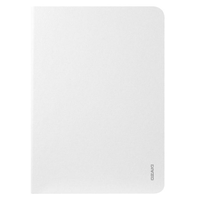 Ozaki O!coat Slim Multi-angle Slim Case чехол для iPad mini retina, WhiteOC114WHЧехол Ozaki O!coat Slim Multi-angle Slim Case защитит iPad mini Retina по всей поверхности и даже по бокам. Удобная передняя крышка служит подставкой при вертикальной и горизонтальной установке устройства. Чехол выполнен из жесткого пластика, покрытого внутри бархатом, а крышка выполнена из прорезиненного текстиля похожего по ощущениям на кожаное покрытие. Ozaki O!coat Slim Multi-angle приятен на ощупь, очень удобно располагается в руке, не утяжеляет всю конструкцию и надежно защищает устройство от внешних воздействий.
