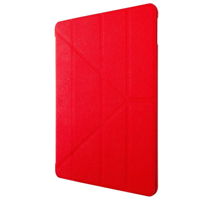 Ozaki O!coat Slim-Y Versatile Сase чехол для iPad Air 2, RedOC118RDЧехол Ozaki O!coat Slim-Y Versatile для iPad Air 2 надежно защищает планшет от пыли, царапин, сколов и повреждений, оставляя доступными все органы управления и разъемы для подключений. Выполнен из сочетания пластика и прорезиненного текстиля, приятно лежит в руке, не скользит, имеет тонкую подложку, благодаря чему вес устройства практически не увеличивается. Чехол O!coat Slim-Y Versatile поддерживает функцию Smart Case и имеет встроенные магниты - ваш планшет автоматически переходит в спящее состояние при закрытии крышки чехла. Также чехол превращается в удобную подставку с большим количеством углов обзора и помогает настроить iPad для просмотра видео или видеозвонков.