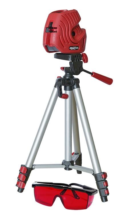 CONDTROL EFX Set1-2-081Дальность: 10 м, Погрешность: ±0.4мм/м, Угол самовыравнивания: ±4.5 °, Источники питания: 2x1,5В, Резьба под штатив: 1/4