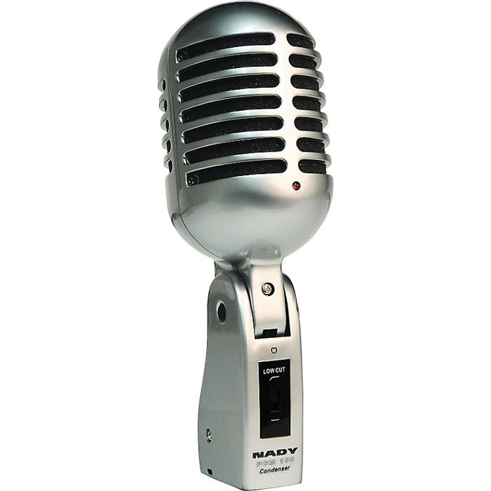 Nady PCM-100, Bronze микрофонPCM-100Высококачественный конденсаторный микрофон Nady PCM-100 выполнен в классическом стиле 40-60-ых годов и оснащен переключаемым обрезным фильтром и современной диафрагмой.
