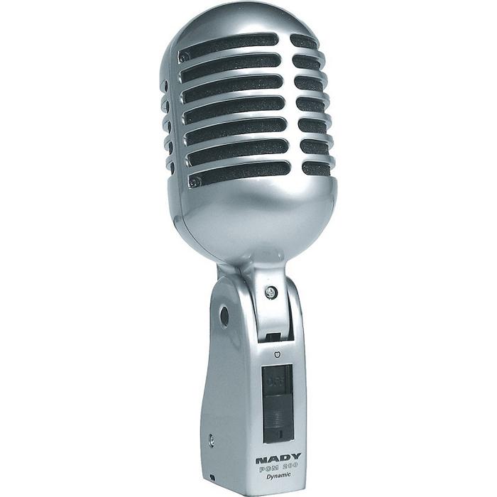 Nady PCM-200, Silver микрофонPCM-200Динамический микрофон Nady PCM-200 выполнен в ностальгическом стиле 40-60-ых годов, но с современной диафрагмой. Своей блюзовой отдачей порадует любителей джаза.
