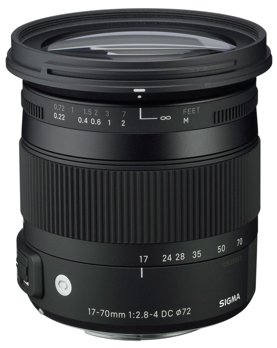 Sigma AF 17-70mm f/2.8-4 DC MACRO OS HSM New объектив для Nikon884955Объектив Sigma AF 17-70mm F2.8-4 DC MACRO OS HSM линии Contemporary для фотокамер Nikon. Новая модель от Sigma имеет зум кратностью 4,1 с диапазоном фокусных расстояний 25,5 – 105 мм в 35 мм эквиваленте. Разработанный как универсальный объектив «на каждый день», удобный в бытовой съемке и путешествиях, он не спасует и при творческой работе. Светосила до F2.8 и широкие возможности в макросъемке найдут отклик у требовательных пользователей. В оптической схеме и механической конструкции применены передовые материалы и технологии. Из 16 оптических элементов, применяемых в конструкции, 1 элемент из специального низкодисперсионного SLD- стекла, 2 элемента из FLD-стекла и 3 асферические линзы, одна из которых с двухсторонней асферикой. Особо можно отметить уникальное флюоритоподобное низкодисперсионное стекло (FLD-стекло), оптические характеристики которого почти равны флюориту. В конструкции с такими элементами почти полностью...