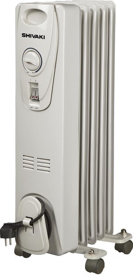 белый Shivaki SHOL-10052C масляный обогреватель