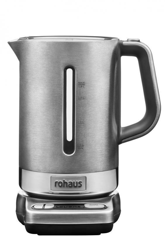 Rohaus RK910S, Silver электрочайникRK910SЧайник Rohaus RK910S с регулировкой температуры выполнен из долговечных металлических деталей, а его технические характеристики позволяют варьировать температуру нагрева воды для приготовления множества различных напитков.
