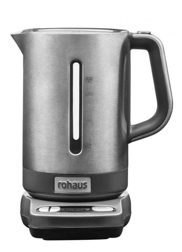 Rohaus RK910G, Grey электрочайникRK910GЧайник Rohaus RK910S с регулировкой температуры выполнен из долговечных металлических деталей, а его технические характеристики позволяют варьировать температуру нагрева воды для приготовления множества различных напитков.
