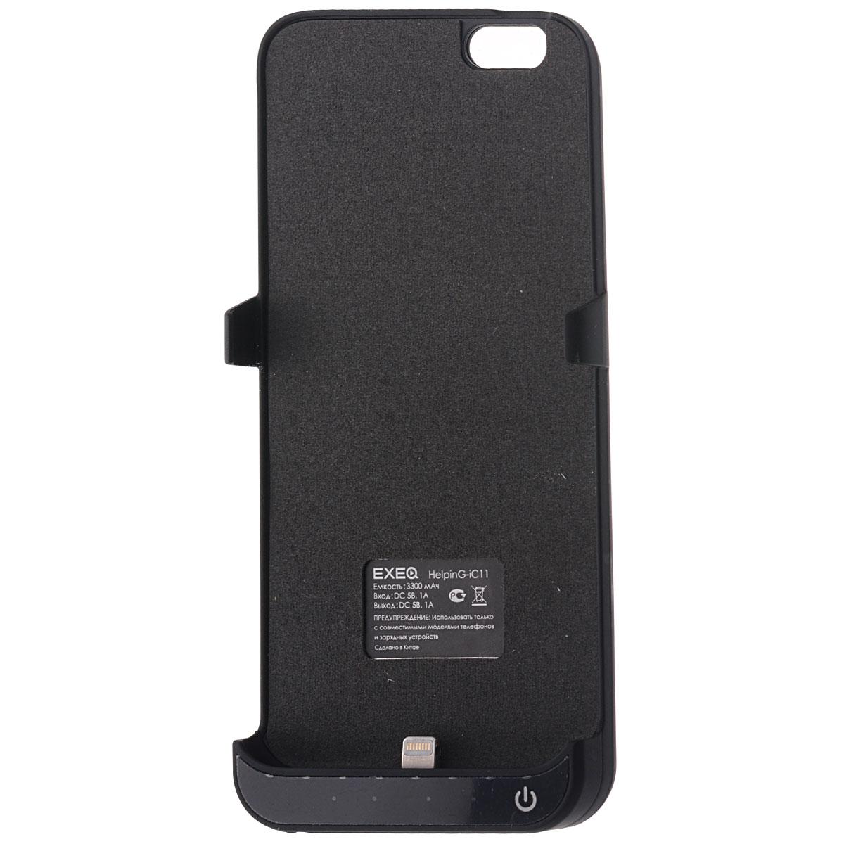 EXEQ HelpinG-iC11 чехол-аккумулятор для iPhone 6, Black (3300 мАч, клип-кейс)