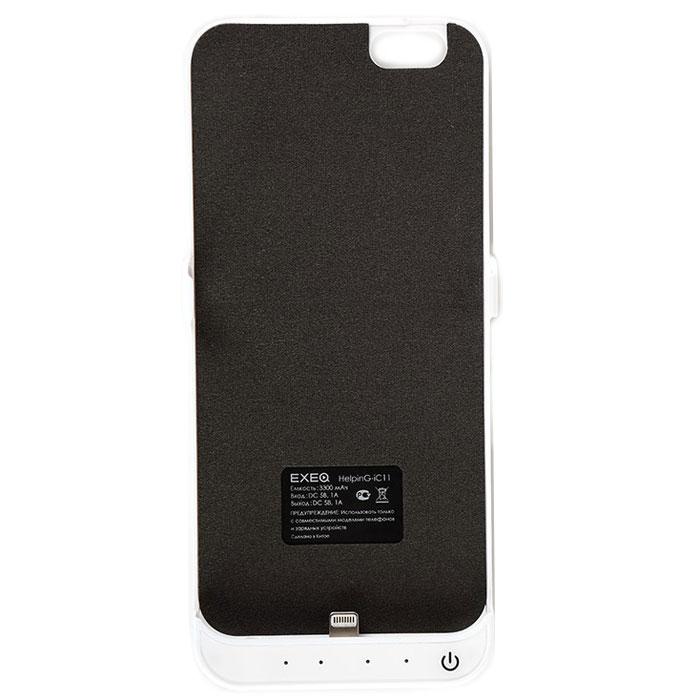 EXEQ HelpinG-iC11 чехол-аккумулятор для iPhone 6, White (3300 мАч, клип-кейс)HelpinG-iC11 WHЧехол-аккумулятор EXEQ HelpinG-iC11 - это отличное решение для тех, кто не может долго обходиться без смартфона. После долгого использования, как известно, современные телефоны быстро разряжаются. С выходом нового iPhone 6-го поколения, данный стильный портативный аккумулятор просто незаменим. С помощью портативного зарядного устройства вы сможете зарядить свой смартфон абсолютно везде: будь то на улице, в общественном транспорте или в любом другом месте, где рядом не оказалось розетки. Чехол-аккумулятор HelpinG-iC11 заряжает ваш телефон до 100 % и автоматически отключается. Заряда хватает на длительное время. Данное зарядное устройство обладает 4-мя индикаторами состояния заряда батареи. Аккумулятор очень легкий, Вам нет необходимости брать с собой зарядные устройства с проводом, которые путаются в сумке. Такой аккумулятор можно использовать несколько дней! Это устройство такое компактное, что поместится в вашем кармане, либо в сумке. Такой...