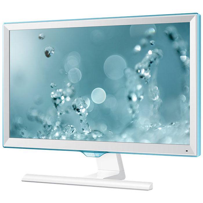 Samsung S22E391H, White мониторLS22E391HSX/CIОбновленный дизайн монитора Samsung S22E391H с акцентом на уникальной рамке Touch Of Color подчеркивает его полупрозрачным голубым оттенком. Супертонкая рамка с четырех сторон дисплея обеспечивают чистый и современный внешний вид и естественным образом фокусируют взгляд на изображении. Дизайн Touch of Color переходит так же на подставку, что обеспечивает гармоничный и целостный общий дизайн монитора. Используемая матрица обеспечивает широкие углы обзора (178°/178°) по горизонтали и по вертикали для удобства работы. Разрешение Full HD обеспечивает качественную картинку на экране монитора Samsung S22E391H. Режим Eye Saver Mode понижает нагрузку на глаза во время работы за монитором путем снижения интенсивности голубого свечения. Технология Flicker Free обеспечивает защиту глаз от постоянного напряжения, вызванного мерцанием и позволяет дольше работать. Эко-энергосберегающая технология снижает яркость экрана для повышения энергоэффективности. Доступны ручная...