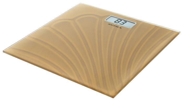 Supra BSS-2065, Gold весы напольныеBSS-2065 goldСтильные напольные механические весы SUPRA BSS-2065 станут неизменным спутником для людей, следящих за своим весом. Крупная градуировка измерительной шкалы сделает использование прибора максимально удобным, а прочная металлическая платформа и прорезиненные ножки гарантируют комфорт и безопасность во время взвешивания.