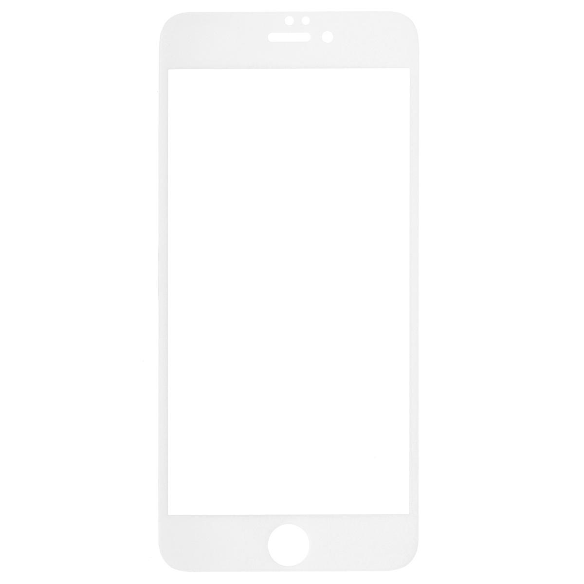 Highscreen защитное стекло для iPhone 6 Plus, белая рамка22887Защитное стекло Highscreen для iPhone 6 Plus - надежная защита экрана смартфона от грязи, пыли, отпечатков пальцев и царапин. Стекло изготовлено точно по размеру экрана, отличается кристальной прозрачностью и имеет все необходимые прорези.