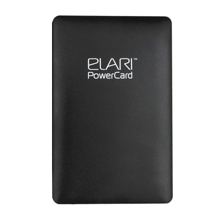Elari PowerCard, Black внешний аккумуляторELPC1BLKElari PowerCard - единственный внешний аккумулятор размером чуть больше кредитной карты, весом 60 г и толщиной всего 6 мм легко поместится в вашем кармане или кошельке. Подходит для любых microUSB-устройств, a также, благодаря опциональному переходнику Lightning, - для iPhone 5/5S/5C, iPod и iPad. Вы можете забыть о дополнительных проводах, так как зарядный кабель компактно спрятан в корпусе. Продлевает работу аккумулятора смартфона практически в три раза, благодаря чему данная модель является незаменимой вещью для всех владельцев мобильных гаджетов.