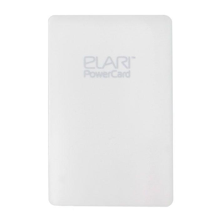 Elari PowerCard, White внешний аккумуляторELPC1WHTElari PowerCard - единственный внешний аккумулятор размером чуть больше кредитной карты, весом 60 г и толщиной всего 6 мм легко поместится в вашем кармане или кошельке. Подходит для любых microUSB-устройств, a также, благодаря опциональному переходнику Lightning, - для iPhone 5/5S/5C, iPod и iPad. Вы можете забыть о дополнительных проводах, так как зарядный кабель компактно спрятан в корпусе. Продлевает работу аккумулятора смартфона практически в три раза, благодаря чему данная модель является незаменимой вещью для всех владельцев мобильных гаджетов.