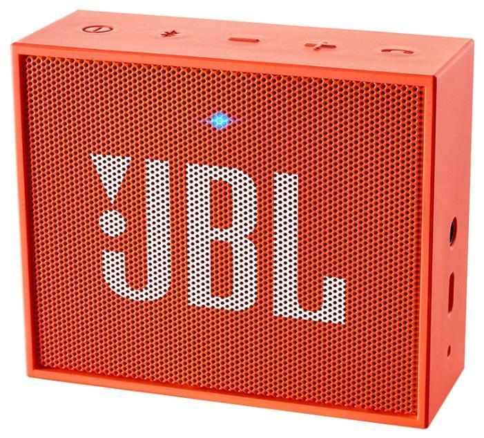 JBL GO, Orange портативная акустическая система6925281903731Этот динамик является удобным решением все-в-одном. Он поддерживает Bluetooth, что позволяет подключать его к любым современным гаджетам, а встроенный аккумулятор подарит вам 5 часов музыки без перерыва. JBL GO также оснащен встроенным микрофоном с технологией шумоподавления, что позволяет вам общаться по телефону по громкой связи. Доступный в 8 ярких расцветках, в прорезиненном корпусе и фирменном стиле JBL, этот портативный динамик подойдет любому, кто любит качественный звук и портативность. GO оснащен креплением, за которое динамик можно прицепить к рюкзаку или одежде. Теперь вы можете никогда не расставаться с любимой музыкой.