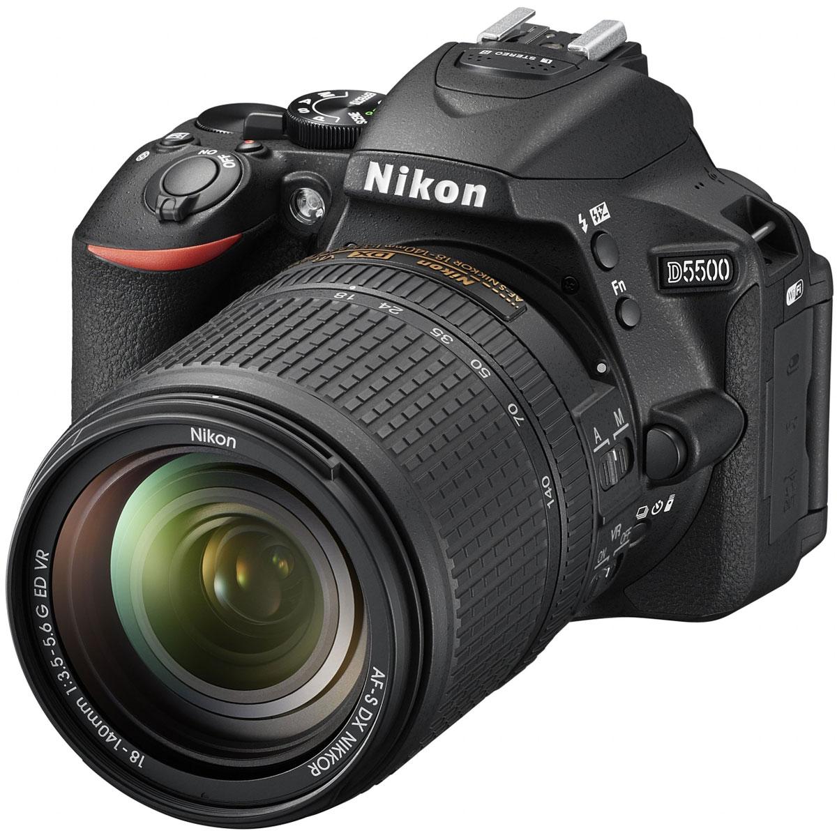 Nikon D5500 Kit 18-140mm VR, Black цифровая зеркальная фотокамераVBA440KR02Отобразите красоту окружающего мира на великолепных фотографиях, снятых с помощью фотокамеры D5500. Эта легкая и компактная, но в то же время очень мощная цифровая зеркальная фотокамера с удобным и понятным сенсорным управлением позволяет совершенствоваться в искусстве фотографии. Забудьте о смазанных фотографиях и создавайте яркие детализированные изображения, которые всегда будут в центре внимания. Достигайте непревзойденных результатов даже при съемке быстро движущихся объектов или в условиях недостаточной освещенности. Создавайте фотографии и видеоролики отличного качества даже при недостаточном освещении. Благодаря широкому диапазону чувствительности ISO (100-25 600 единиц) изображения получаются как никогда яркими и детализированными. С мощной 24,2-мегапиксельной матрицей вы поразите друзей снимками с высоким уровнем детализации. Фотокамера D5500 оснащена матрицей с разрешением 24,2-мегапикселя, в конструкции которой не используется...