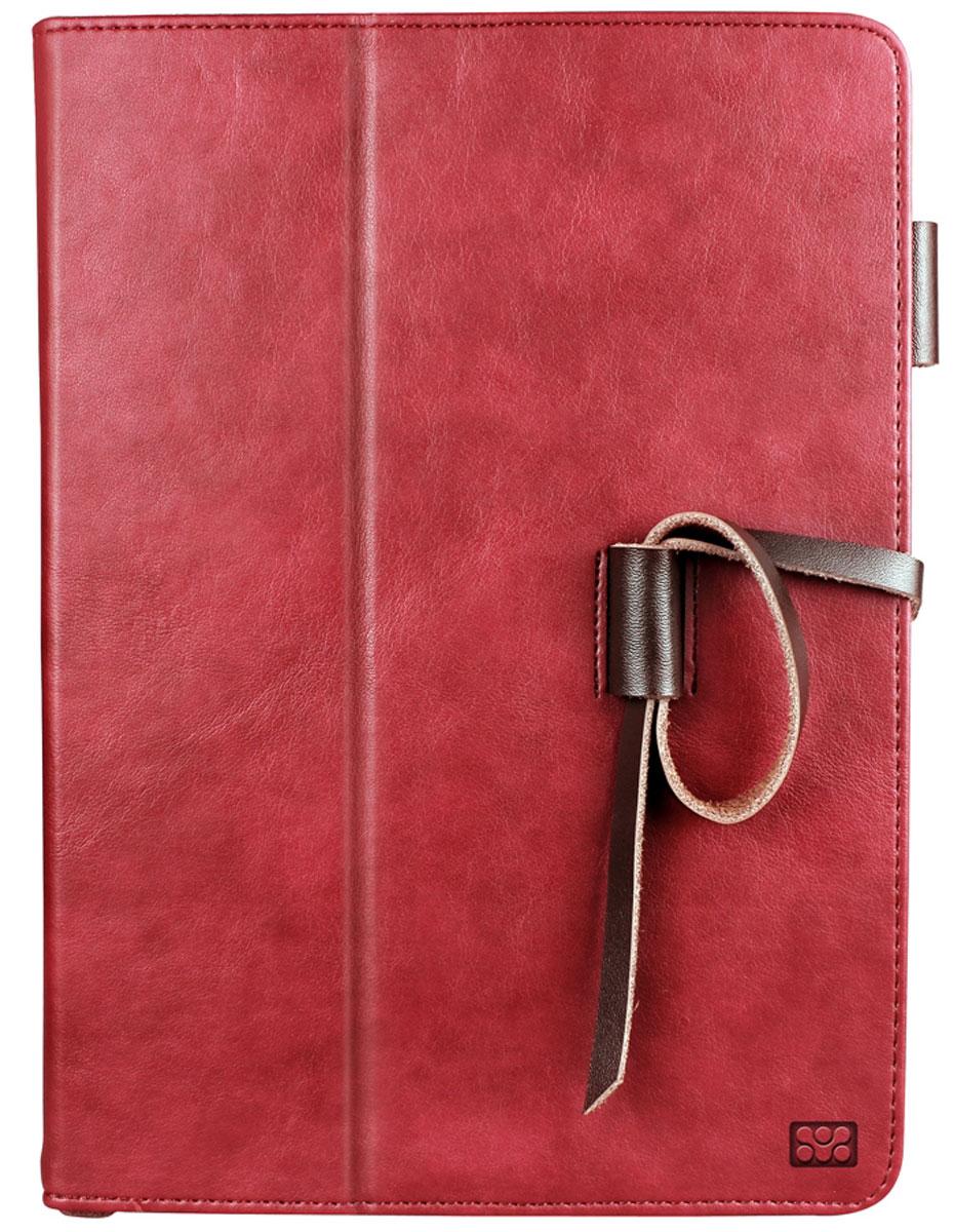 Promate Agenda чехол для iPad Air 2, Red00008019Agenda - это элегантный и стильный защитный чехол для iPad Air 2 из великолепной натуральной мягкой кожи. У чехла великолепно продумана система хранения. Разнообразные вырезы и карманы во внутренней части флип крышки вместят в себя разнообразные аксессуары повседневной жизни, такие как визитки, пластиковые карты, права, документы, деньги и многое другое. Крышка чехла предусмотрительно трансформируется в опору, превращая его в подставку для горизонтального просмотра содержимого на экране. Также в комплекте Agenda идет удобная ручка с функцией стилуса, для еще большего комфорта пользователя. Promate Agenda - изысканная защита вашего iPad Air 2!