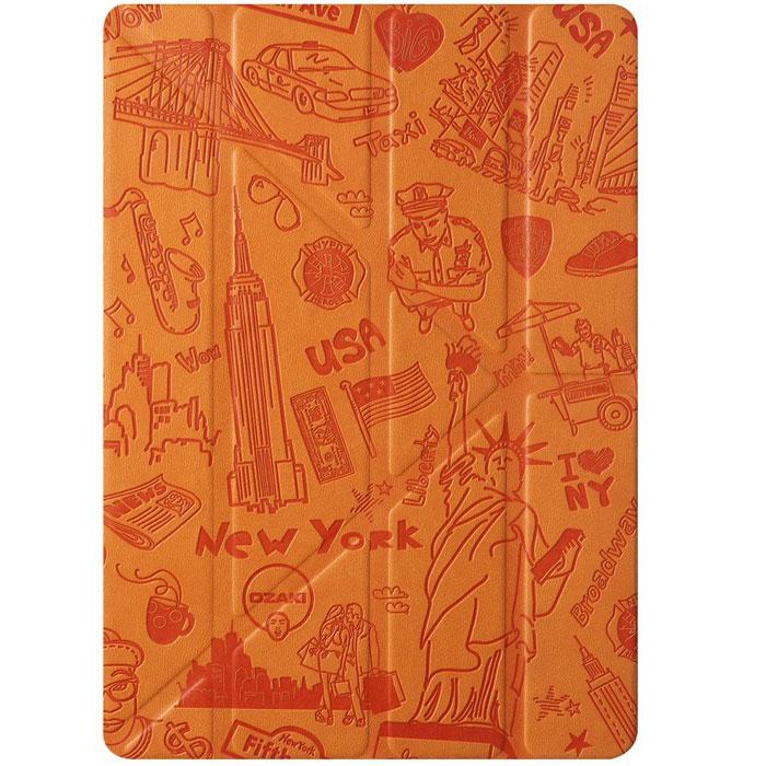 Ozaki O!Coat Travel Versalite для iPad Air 2, New YorkOC119NYНовый чехол Ozaki O!Coat Travel Versalite для iPad Air 2 выполнен по образу и подобию всем так любимой линейки чехлов OZAKI города. Данные чехлы изготовлены из прочного в использовании материала с жестким основанием для установки iPad Air 2. Крышка чехла Ozaki O!Coat Travel Versalite складывается в форме Y, благодаря чему можно устанавливать чехол на стол в разных углах, что удобно при просмотре видео и играх на iPad Air 2. Все порты для подключений в чехле Ozaki O!Coat Travel Versalite остаются свободными для подключений и работы с ними. Чехол надежно защитит iPad Air 2 от царапин, пыли сколов и повреждений.