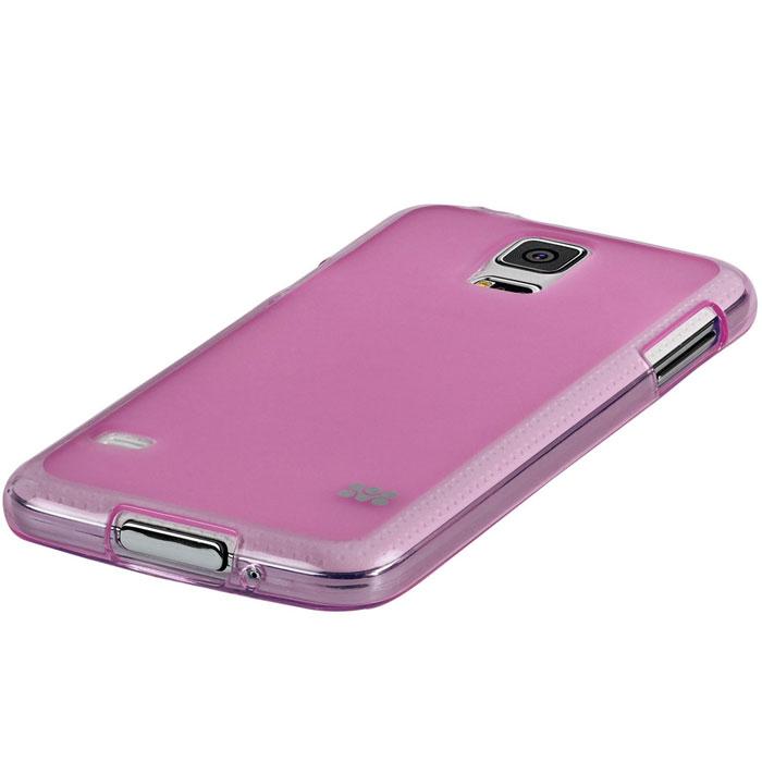Promate Akton-S5 чехол-накладка для Samsung Galaxy S5, Pink00007893Akton-S5 входит Цветную коллекцию Promate и предназначен исключительно для сохранения внешнего вида вашего Samsung Galaxy S5. Разнообразная красочная палитра добавит изюминку вашему телефону.