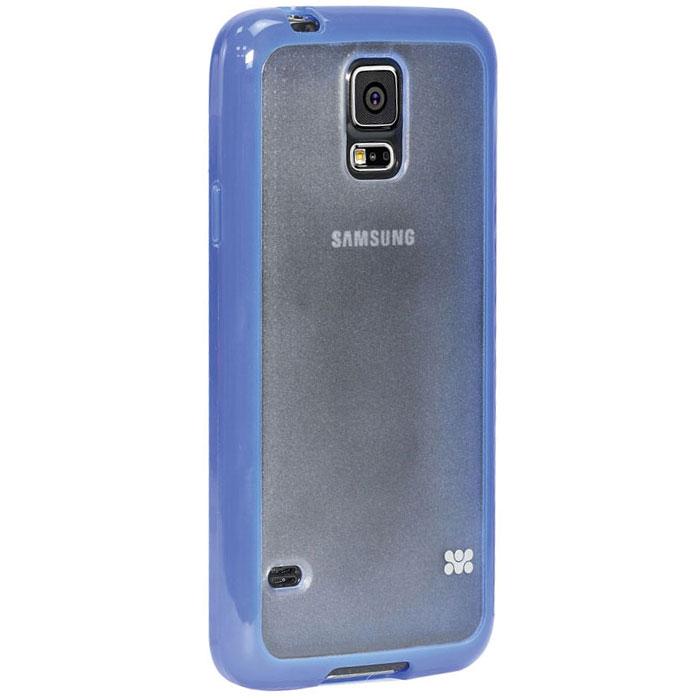 Promate Amos-S5 чехол-накладка для Samsung Galaxy S5, Blue00007897Promate Amos-S5 является новым аксессуаром для Galaxy S5, он идеально прилегает к корпусу и повторяет силуэт смартфона. Ультраэластичность Amos S5 превосходно защищает телефон от царапин и потертостей. В данной накладке встречаются практичность и дизайн. Доступность моделей в разных цветах позволяет менять стиль вашего Samsung Galaxy S5 каждый день!