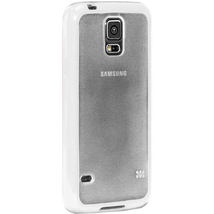 Promate Amos-S5 чехол-накладка для Samsung Galaxy S5, White00007898Promate Amos-S5 является новым аксессуаром для Galaxy S5, он идеально прилегает к корпусу и повторяет силуэт смартфона. Ультраэластичность Amos S5 превосходно защищает телефон от царапин и потертостей. В данной накладке встречаются практичность и дизайн. Доступность моделей в разных цветах позволяет менять стиль вашего Samsung Galaxy S5 каждый день!