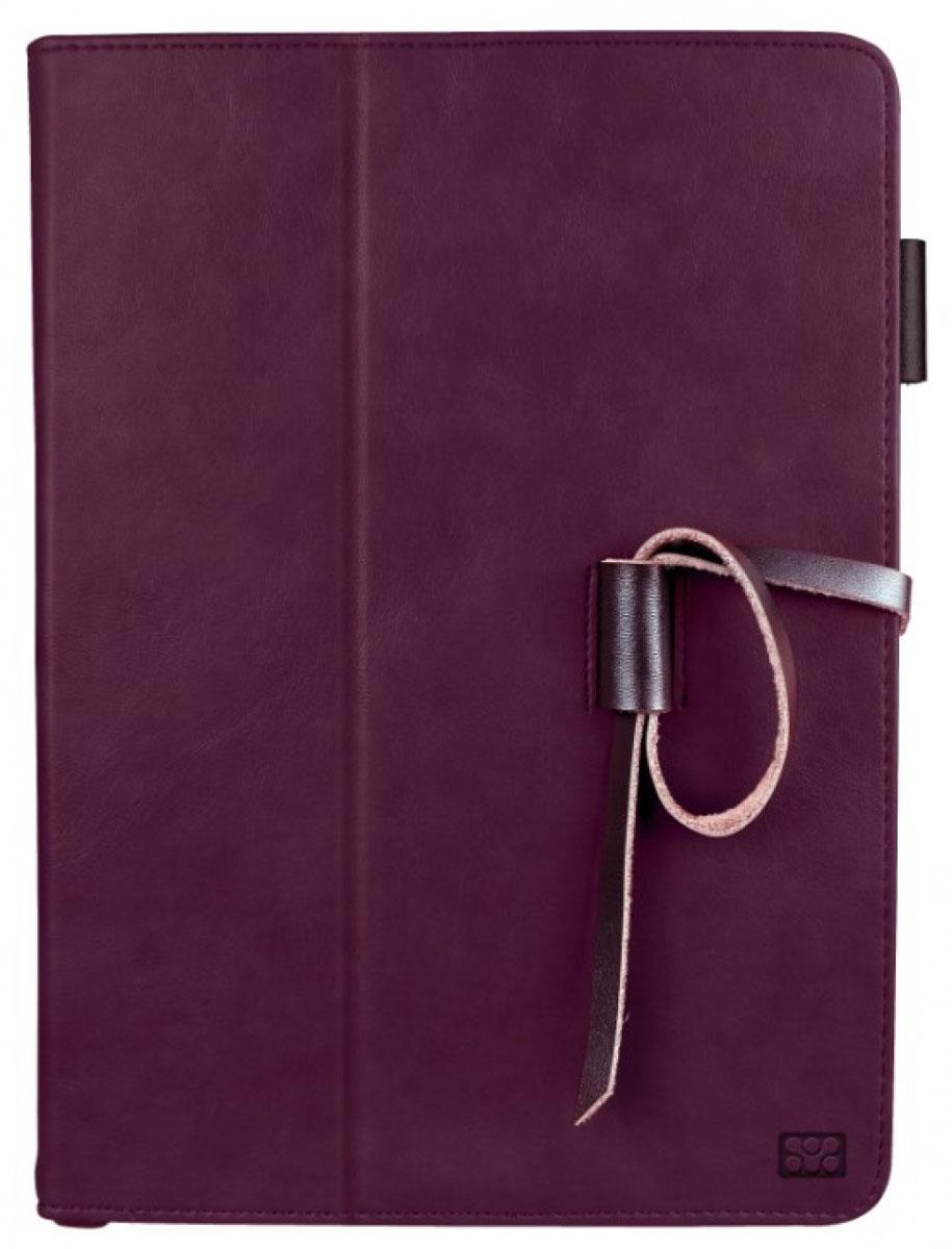 Promate Agenda чехол для iPad Air 2, Purple00007581Agenda - это элегантный и стильный защитный чехол для iPad Air 2 из великолепной натуральной мягкой кожи. У чехла великолепно продумана система хранения. Разнообразные вырезы и карманы во внутренней части флип крышки вместят в себя разнообразные аксессуары повседневной жизни, такие как визитки, пластиковые карты, права, документы, деньги и многое другое. Крышка чехла предусмотрительно трансформируется в опору, превращая его в подставку для горизонтального просмотра содержимого на экране. Также в комплекте Agenda идет удобная ручка с функцией стилуса, для еще большего комфорта пользователя. Promate Agenda - изысканная защита вашего iPad Air 2!