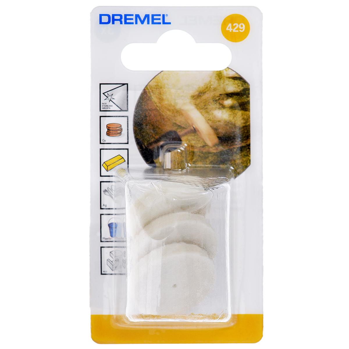 насадки для чистки и полировки Dremel 429 (26150429JA) 3 шт.
